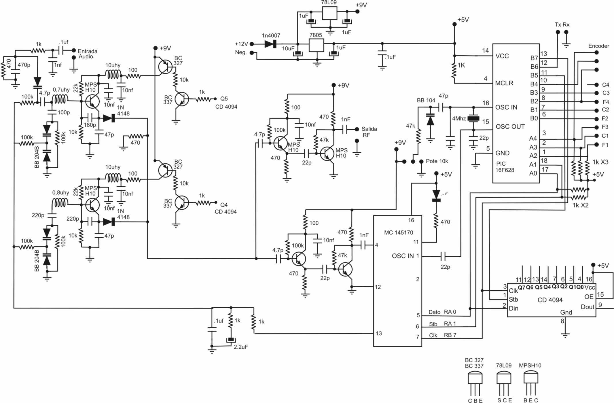 Circuito Oscilador : Oscilador controlado por pll